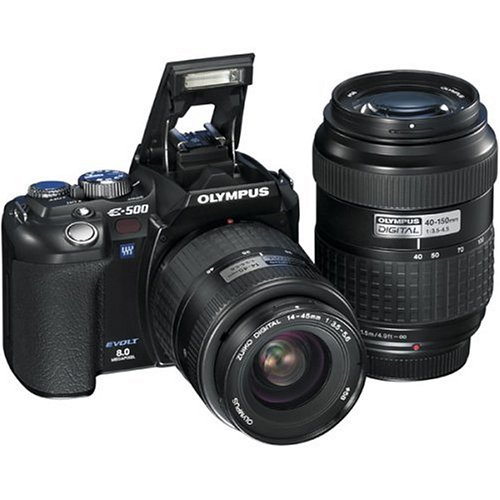 Olympus Evolt E500 8MP Digital SLR with 14-45mm f/3.5-5.6 & 40-150mm f/3.5-4.5 Zuiko Lenses