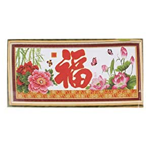 Butterfly Flower Pattern Stamped Cross Stitch Chinese Counted Kit