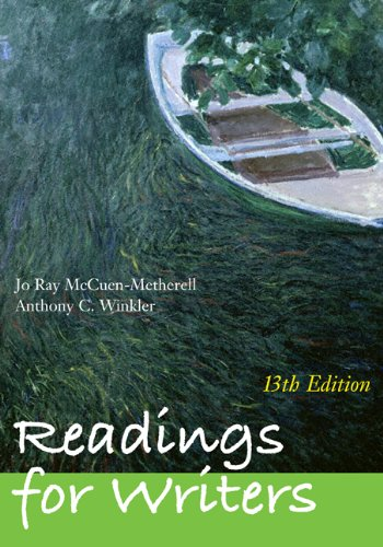 Readings for Writers (with 2009 MLA Update Card)