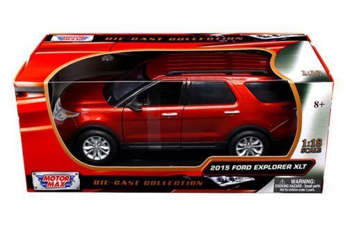 new-118-w-b-motor-max-collection-red-2015-ford-explorer-xlt-suv-diecast-model-car-by-motor-max-by-mo