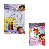 Dora the Explorer Gift Set Coluring Set with Colouring Pencils and Paint Your Own Canvas Set