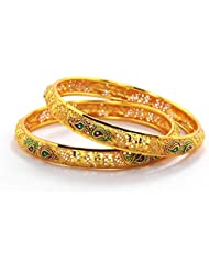 Peach & Glory Gold Plated Bangle For Women SIZE 2.6 (A223)