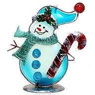 Regal Glass And Metal Christmas Snowm…
