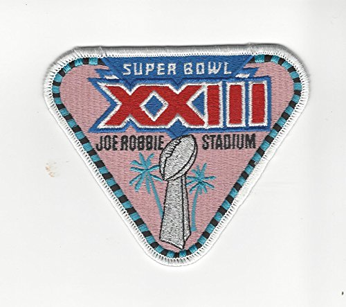 Super Bowl XXIII 23 Embroidered Sew On Patch San Francisco 49ers vs Cincinnati Bengals (Super Bowl 23 compare prices)