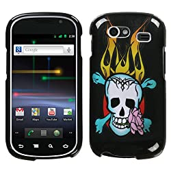Flaming Skull Design Protector Case Phone Cover for Samsung Nexus S