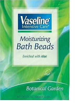 Vaseline Intensive Care Moisturizing Bath Beads Enriched with Aloe Botanical Garden 24 oz.