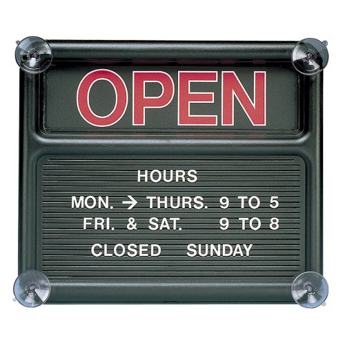 Quartet Open and Closed Sign 14 x 12 Inches Black 8130-1B00006IAST : image