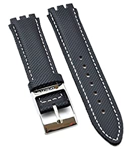 Fit Swatch SWC104 Leather Watch Strap 17mm Black Similar