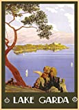 Vintage Travel ITALY for LAKE GARDA 250gsm ART CARD Gloss A3 Reproduction Poster