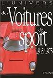 echange, troc  - L'univers des voitures de sport 1945/1975