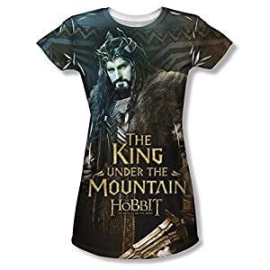 The Hobbit: Battle Of The Five Armies King Junior Fit All Over Print Front T-Shirt