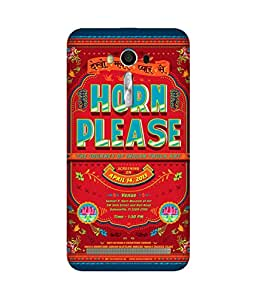 Horn Ok Please Asus Zenfone 2 Printed Back Cover