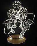 平面ランプ LEDスタンドライト インテリア (スパイダーマン)