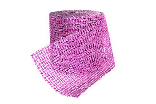 Banda Strass 9 m per bellissime decorazioni Strassborte Dekoband glitter nastro decorazione della festa nuziale Strass nel colore rosa del PRECORN marchio