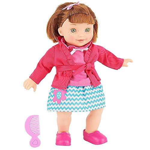 You & Me Friends 14 Inch Doll - Red Bob (Pink Top With Chevron Skirt) front-889080