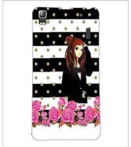 PrintDhaba Beautiful Girl D-1118 Back Case Cover for LENOVO K3 NOTE (Multi-Coloured)