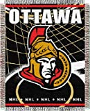 Northwest Ottawa Senators NHL Triple Woven Jacquard Throw - 019 Series - 48 x 60 Inch