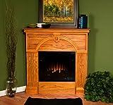 SEI Linda Corner Electric Fireplace, Golden Oak