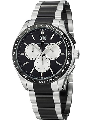 maurice-lacroix-mens-miros-black-dial-stainless-steel