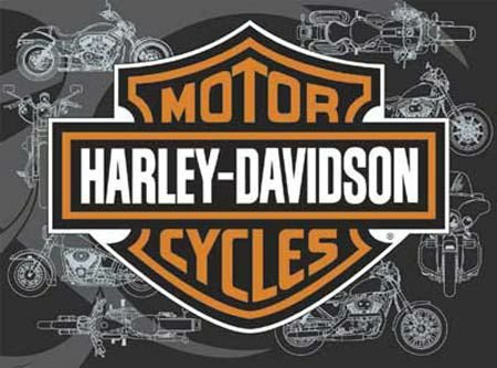 FX Schmid Harley Davidson Bar and Shield 500 Piece Jigsaw Puzzle