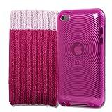 KOLAY® Silikon Hülle Case Schutzhülle in Pink & Schutzsocke für den neuen Apple iPod touch 4G (4. Generation 8GB 32GB 64GB)