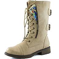 DailyShoes Womens Military Combat La…