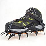 Andoer 12-Teeth Ice/Snow Boot Shoe Covers Spike Cleats Crampons Gripper Climbing Walking Outdoor