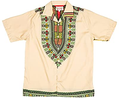 Ragstock Men's Dashiki Shirt Button Down
