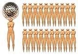 T O K G O@ 20pcs Naked Lady Nude Golf Tees