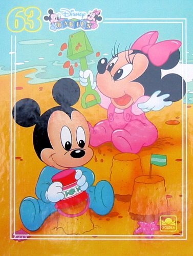 Disney Babies 63pc. Puzzle-Mickey and Minnie at the Beach - 1