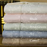 Cotton/Silk Floral Sheet and Pillowcases - Open stock