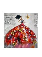 Arte Dal Mondo Lienzo Edgar Ramirez Donna Con Farfalle