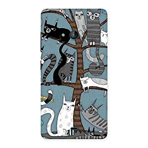 Special Cat On Trees Print Back Case Cover for Lumia 540