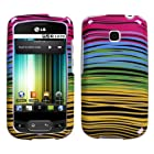 Hard Plastic Snap on Cover Fits LG P509 P506 Optimus T, Thrive Phoenix Breezy Midnight T-Mobile (does not fit LG LS670 Optimus S)