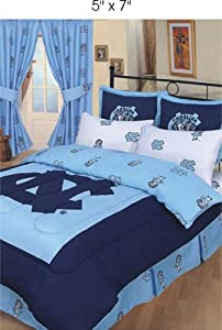 UNC Bed in a Bag with Team Colored Sheets by College Covers