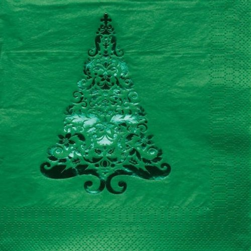 Creative Converting Glitz Green Foil Stamped Lunch Napkins, 16 Count