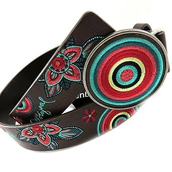 Designer belt 'Desigual' multicolored brown. at Amazon