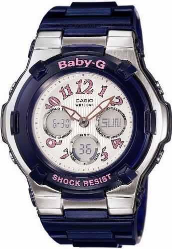 Casio Baby-G World Time Alarm Chrono - Perpetual Calendar - Blue Resin Band