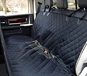 premium bench car seat cover free pet seatbelt protect leather cloth from dog cat kids. Black Bedroom Furniture Sets. Home Design Ideas