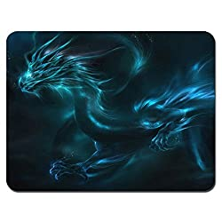 Meffort Inc Standard 7 X 9 Inch Mouse Pad - Blue Dragon