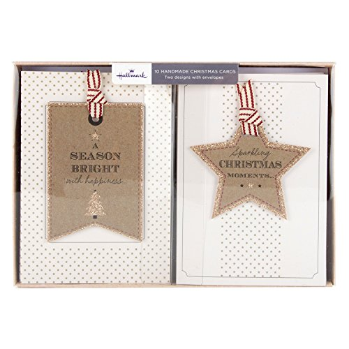 hallmark-tarjeta-de-navidad-hecha-a-mano-pack-sparkling-fugaz-10-tarjetas-2-disenos