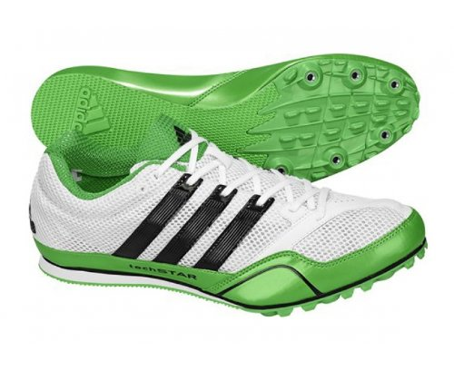 Excelente calidad 2019 real Excelente calidad ADIDAS Techstar Allround 2 Track Spikes White Green Black US8 ...