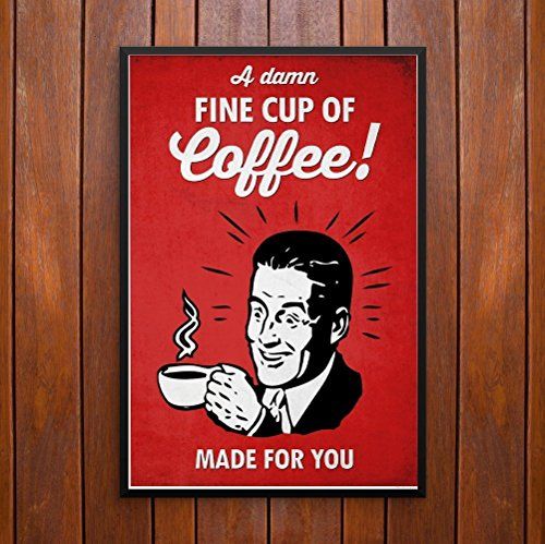 A Damn Fine Cup of Coffee! Twin Peaks Poster or Framed Print