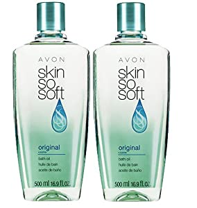 Lot of 2 Avon Skin so Soft Bath Oil Original Scent 16.9 Oz