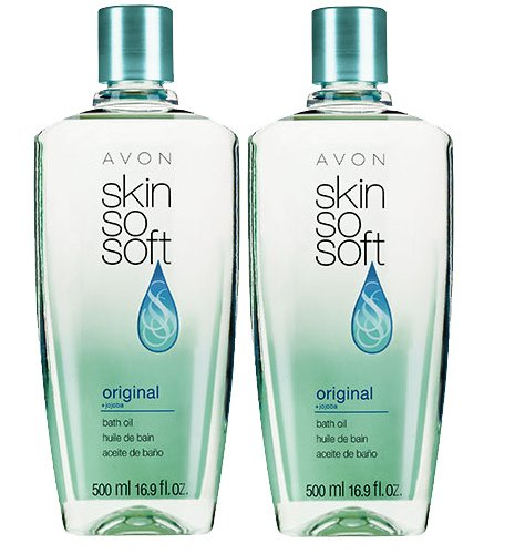 Lot of 2 Avon Skin so Soft Bath Oil Original