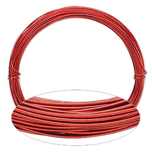 Red Aluminum Wire 20 Gauge Round Wrapping Jewelry Craft 45 Foot Coil