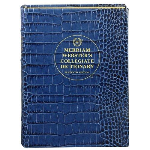 Graphic Image Desk Dictionary Blue Crocodile Leather