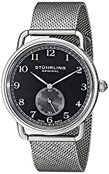 Stuhrling Original Analog Black Dial Mens Watch - 207M.02