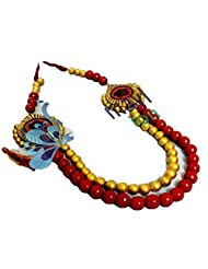 Sreemayl Creations Red And Gold Terracotta Necklace Set For Women