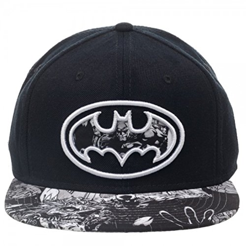 [DC Batman Dark Knight Embossed Shield Baseball Cap Costume Hat] (Baseball Bat Man Costume)